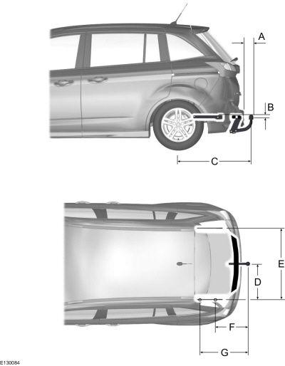 Габариты кузова Ford C-max 2010-2014