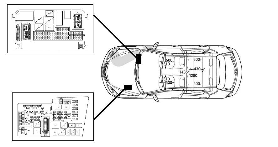 Схема расположения блоков в машине