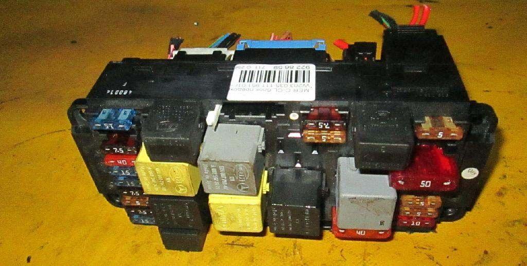 Фото блока предохранителей моторного отсека w203