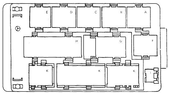 Схема блока реле с обозначениями
