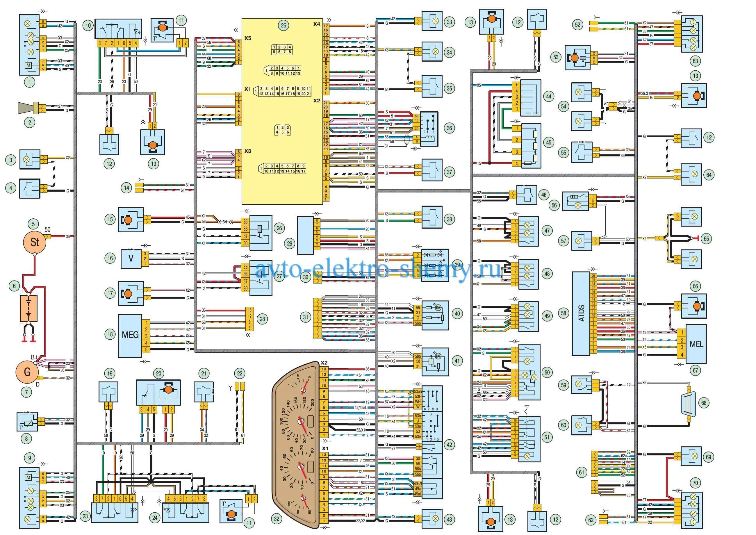 Схема электрооборудования ВАЗ-2123