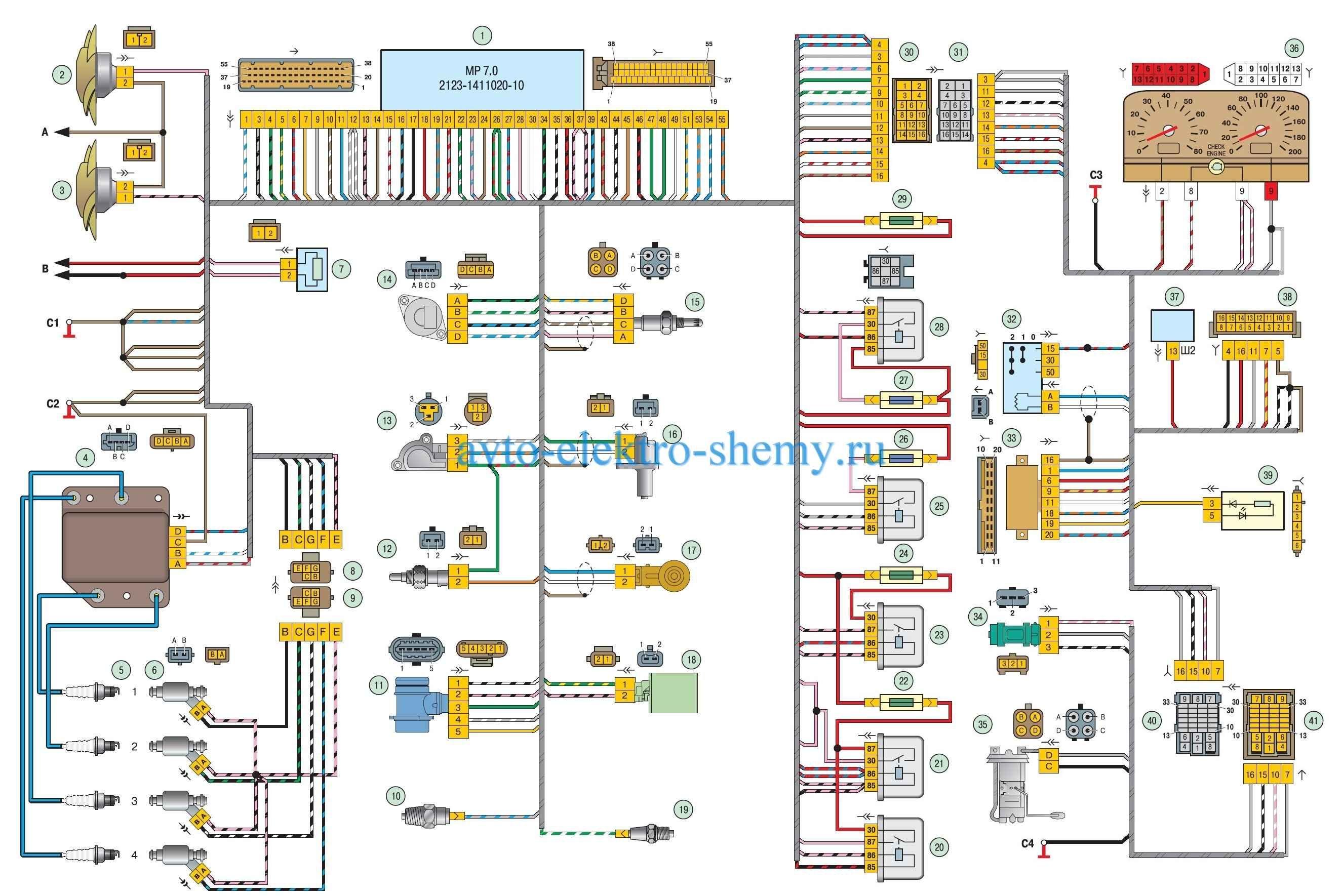 Схема инжектора нива шевроле