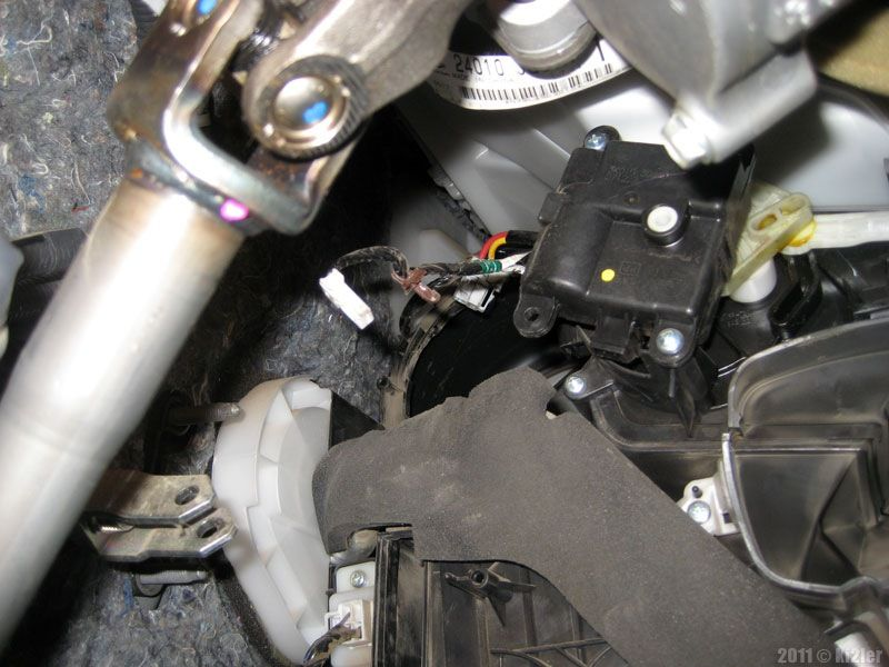 Замена моторчика печки Nissan Qashqai