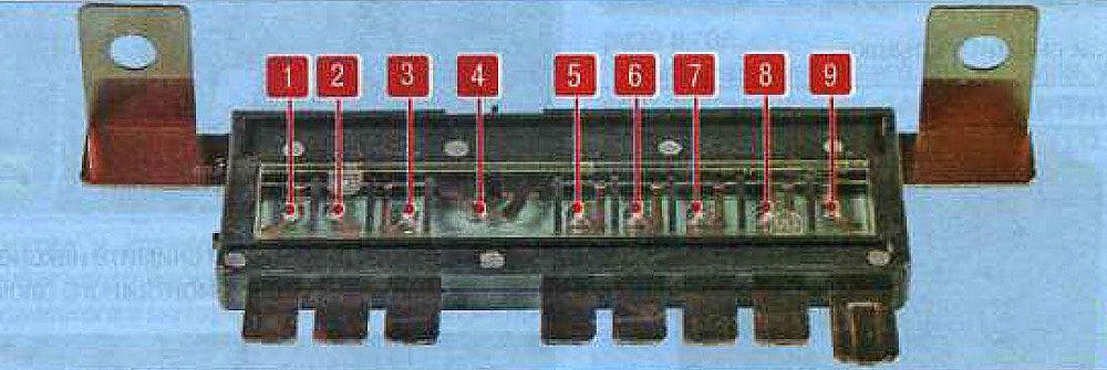 Отсоединенный длинный мультипредохранитель верхней части моторного блока предохранителей
